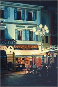 Tom Swimm Giclee on Paper: &quot;Twilight Caf&quot;
