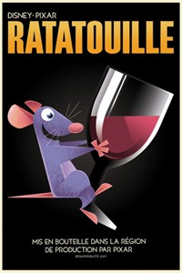 Ratatouille Limited Edition Disney Giclee on Paper:&quot;Remy Avec Vin&quot;