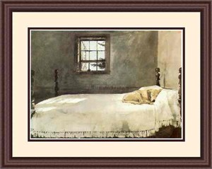Andrew Wyeth Framed Art: &quot;Master Bedroom&quot; (Free Shipping)