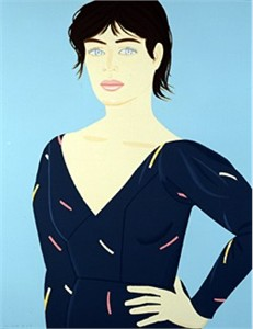 "Alex Katz Handsigned and Numbered Limited Edition Serigraph: ""Grey Dress"""