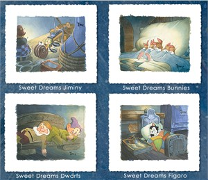 "Toby Bluth Handsigned and Numbered Limited Edition Hand Deckled Giclee on Paper:""The Sweet Dreams Suite"""