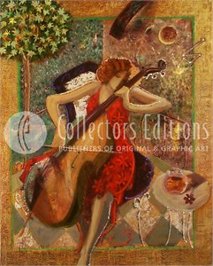 Sabzi Limited Edition Giclee / Serigraph on Canvas :&quot;Sonata &quot;