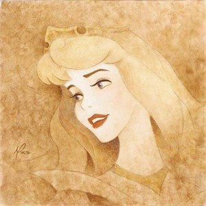 "Mike Kupa Handsigned and Numbered Limited Edition Giclee on Canvas: ""Princess Suite -  Sleeping Beauty """