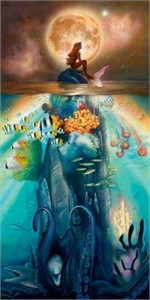 "John Rowe Handsigned and Numbered Limited Edition Giclee on Canvas:""Fathoms Below"""