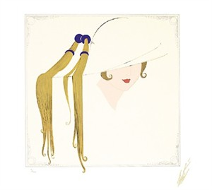 "Ert� Limited Edition Embossed Serigraph:""Tassel Hat (Fashion & Jewelry Suite)"""