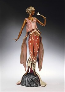 Ert Limited Edition Bronze Sculpture:&quot;Flower Petal Gown&quot;