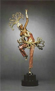 "Ert� Limited Edition Bronze Sculpture:""Firedancer"""