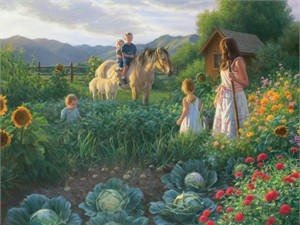 "Robert Duncan Handsigned and Numbered Limited Edition Giclee on Canvas:""The Summer Foal"""
