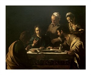 "Caravaggio Fine Art Open Edition Giclée:""Supper at Emmaus"""