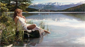 "Steve Hanks Hand Signed and Numbered Limited Edition Gicl�e Canvas: ""Canadian Beauty"""