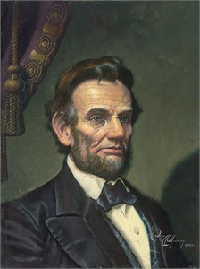 "Dean Morrissey Handsigned and Numbered Limited Edition Gicl�e Canvas:""Study for Abraham Lincoln: The Great Emancipator"""