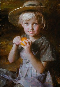Morgan Weistling Handsigned and Numbered Limited Edition Gicle Canvas:&quot;Tangerine&quot;