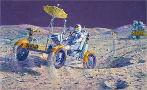 Alan Bean  Hand Signed and Numbered Gallery Wrap Canvas Edition:&quot;Lunar Grand Prix&quot;