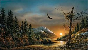 "Terry Redlin AP Limited Edition Print: ""Flying Free"""