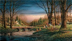 "Terry Redlin Handsigned and Numbered Limited Edition Artist Proof Print: ""Spring Fishing"""