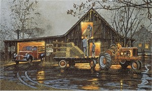 "Dave Barnhouse Hand Signed and Numbered  Limited Edition Canvas: ""Last Chore of the Day"""