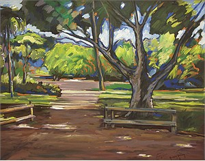 "Gaspar Cunha Open Edition Giclee on Canvas:""Park in Kendall"""
