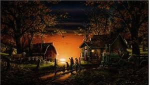 "Terry Redlin AP Limited Edition Print:""Morning Suprise"""