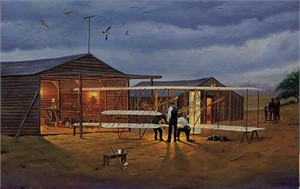 Dave Barnhouse Hand Signed  Open Edition Print &quot;Preflight Check at Kitty Hawk &quot;