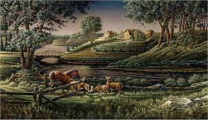 "Terry Redlin Handsigned & Numbered Limited Edition Print:"" Natural Curiosity"""