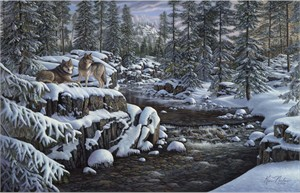 "Kim Norlien Handsigned and Numbered Limited Edition :""Winter's Glory"""
