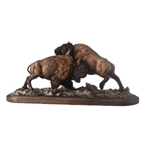 "Greg Peltzer Limited Edition Buffalo Sculpture: ""Test Of Strength"""