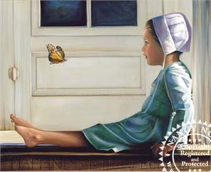"Nancy Noel Limited Edition Giclee on Canvas:""Happiness is Like a Butterfly"""