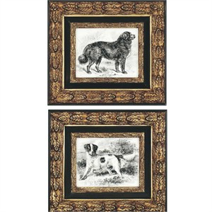 Joey Duncan Designer Framed Print: &quot;Dogs Pk/2&quot;