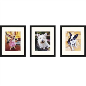 Malanta Knowles Designer Framed Print: &quot;Dogs That I Know I Pk/3&quot;