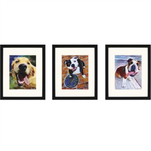 "Malanta Knowles Designer Framed Print: ""Dogs That I Know III Pk/3"""
