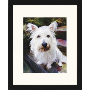"Malanta Knowles Designer Framed Print: ""Little Westie"""