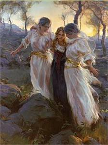 "Daniel Gerhartz Handsigned and Numbered Limited Edition Giclee on Canvas : ""Hind's Feet on High Places"""