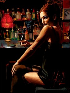 "Fabian Perez Handsigned and Numbered Limited Edition Embellished Giclee on Canvas: ""Marissa III"""