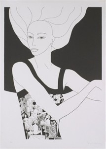 "Unknown Signed Edition Lithograph :""Black and White"""