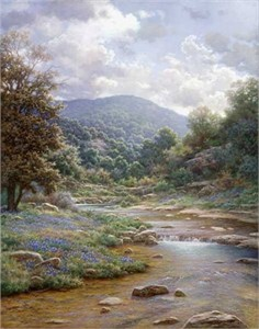 "Larry Dyke Hand Signed and Numbered Limited Edition Grande Edition Giclee on Canvas: ""Secluded Spring"""