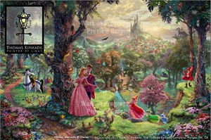 Thomas Kinkade Disney Dreams Collection Limited Edition Canvas Giclee:&quot;Sleeping Beauty&quot;