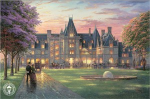 Thomas Kinkade Signed and Numbered Limited Edition Print and Hand Embellished Canvas:&quot;Elegant Evening at Biltmore&quot;