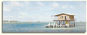 "Tripp Harrison Handsigned & Numbered Limited Edition Print:""Stiltsville """
