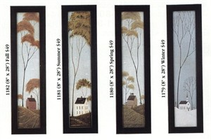 Warren Kimble Framed Art Set:&quot;Four Seasons Series&quot;