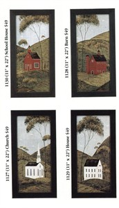 "Warren Kimble Framed Art Set of 4:""Americana Series"""