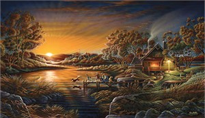 Terry Redlin Handsigned and Numbered Limited Edition Print:&quot;Basic Training&quot;