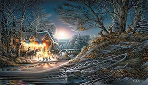 "Terry Redlin Handsigned and Numbered Limited Edition:""Toasting Marshmallows"""