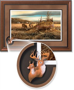 "Terry Redlin Framed Open Edition Cameo: ""Sharing the Bounty Encore"""