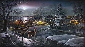 "Terry Redlin Handsigned and Numbered Limited Edition: ""Hometown"""