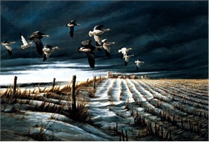 "Terry Redlin 25th Anniversary Silver Medallion Edition Print:""Winter Snows"""